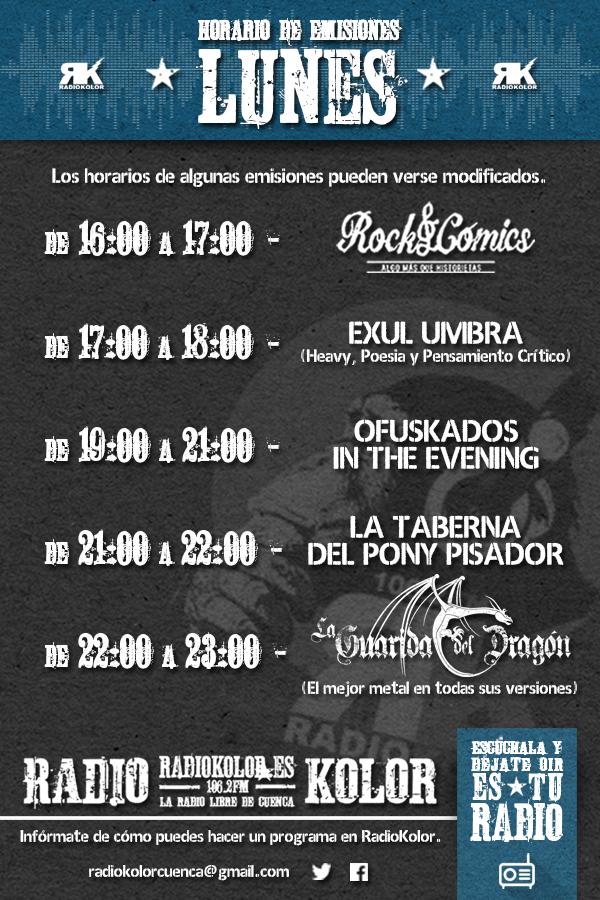 RK_Horario Emisiones 01 LUNES 2016-2017 T2