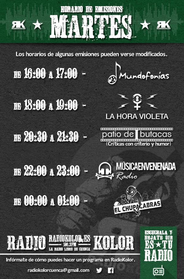 RK_Horario Emisiones 02 MARTES 2016-2017 T2