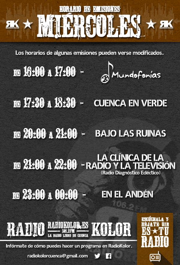 RK_Horario Emisiones 03 MIERCOLES 2016-2017 T2