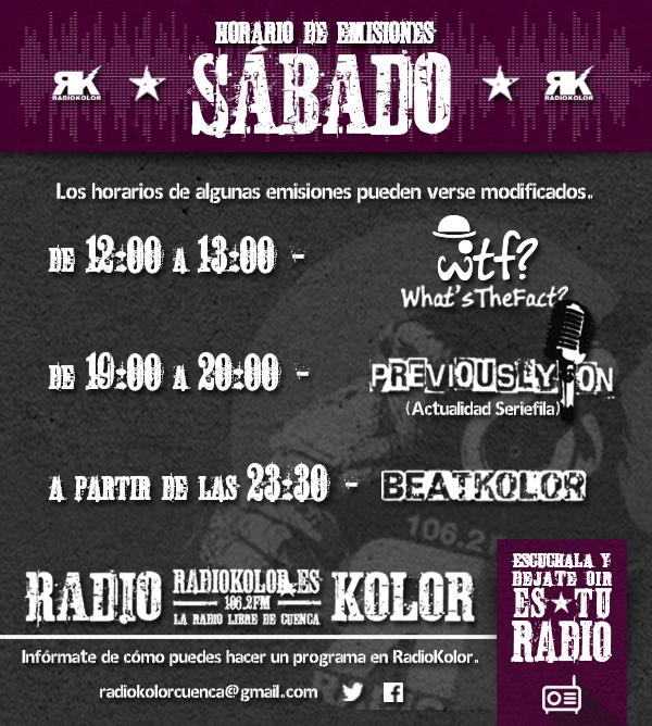 RK_Horario Emisiones 06 SABADO 2016-2017 T2
